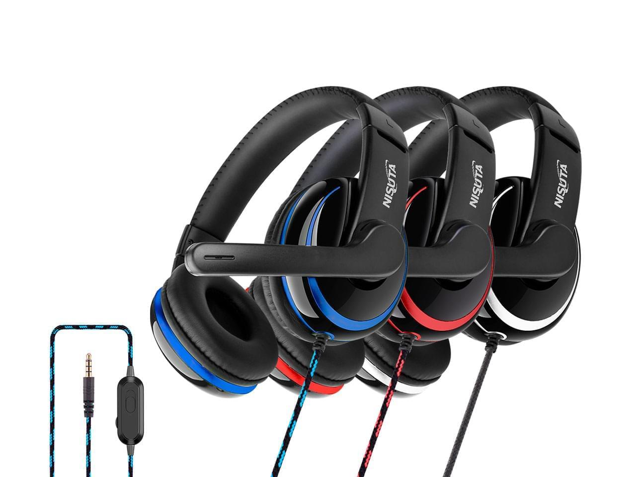Auricular gaming PS4 tipo vincha y micrófono NISUTA