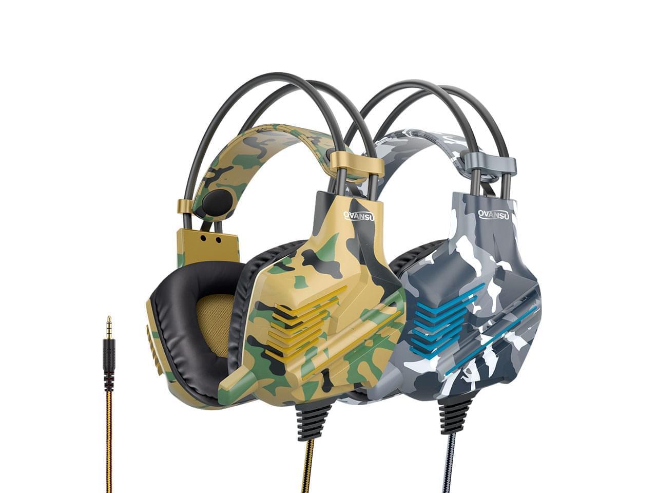 Auricular gaming PS4 camuflado tipo vincha y micrófono NISUTA